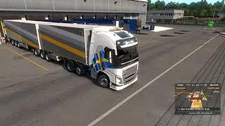 Euro Truck Simulator 2 v1.32 Trailer Ownership update - B-Double drive