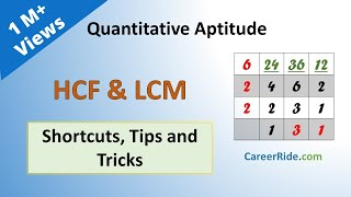 HCF and LCM - Shortcuts & Tricks for Placement Tests, Job Interviews & Exams