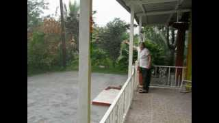 Heavy tropical rain in Jayuya, Puerto Rico