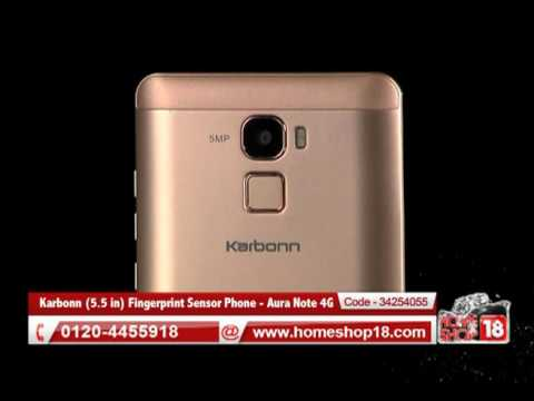 Homeshop18.com - Karbonn 13.97 cm (5.5 in) Fingerprint Sensor Phone - Aura Note 4G