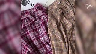 어제보다 더 예쁜 99걸즈 / 로망 칼라 체크 셔츠 남…