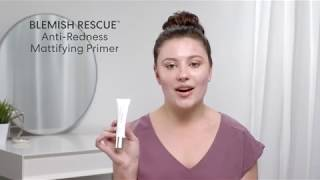 Acne Makeup Routine with Blemish Remedy Face Primer from bareMinerals