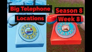 Fortnite ¦ Dial Pizza Pit and Durrr Burger on Big Telephones Locations Leaked Week 8 Challenge