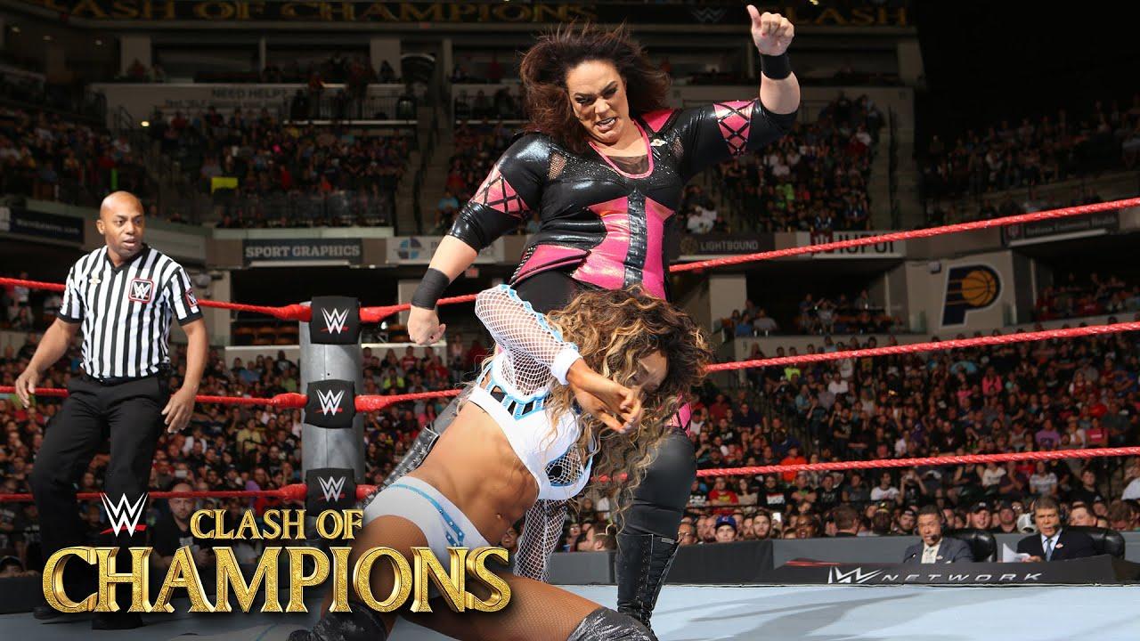 Alicia Fox vs. Nia Jax WWE Clash of Champions 2016 Kickoff