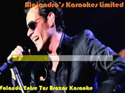 Marc Anthony Volando Entre Tus Brazos Karaoke
