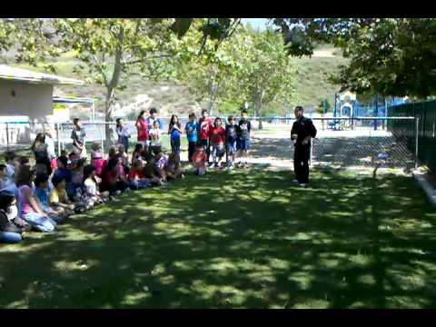 Wushin Martial Arts Sensei Lonnie Huey at Anaheim Hills Elementary School.