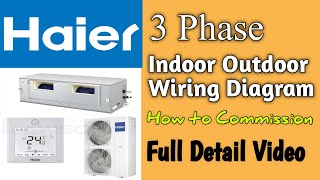 3 Phase Air Conditioner Wiring Connection Diagram | How To Commissioning DC Inverter  AC ? - YouTube | Split Type Air Conditioner Wiring Diagram 3 Phase |  | YouTube