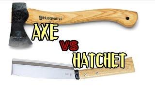 斧vs鉈 キャンプにおける使用シーン AXE vs HATCHET  At the Camp