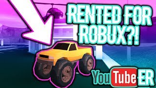 RENTING A MONSTER TRUCK IN ROBLOX JAILBREAK FROM A YOUTUBER?! ($1 Million Dollars)