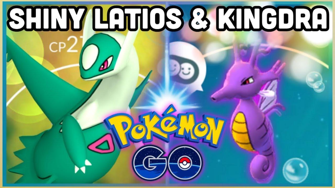 SHINY LATIOS & POSSIBLY SHINY KINGDRA IN POKEMON GO | SHINY LATIOS RAID  COUNTERS - YouTube