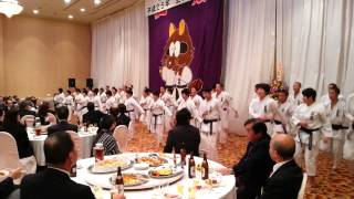 2013年拓大紅陵空手道部 報告会・演武会での木更津甚句(空手バージョン)