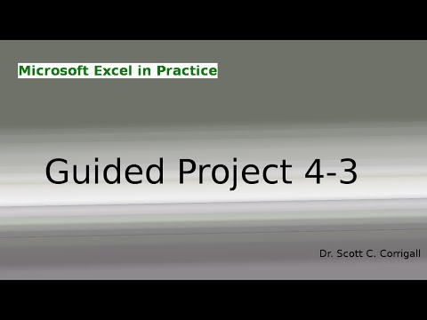 Microsoft Excel Guided Project 4-3