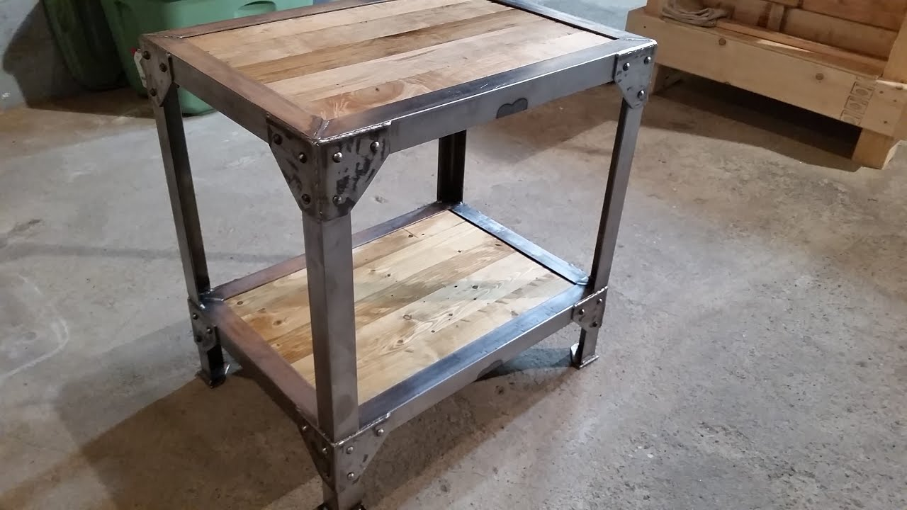 Making A Wood And Metal Side Table End Tables Youtube