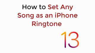 Learn how to set any song as an iphone ringtone ios 13 (no app, no jailbreak) without garageband