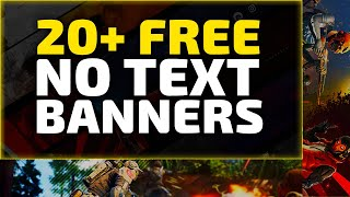 Top 20+ Gaming Banner Template No Text | Banner for PC/Mobile | Free Download