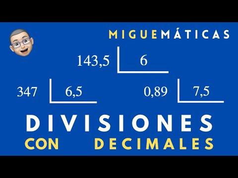 Aritmética : Divisiones con números decimales - YouTube