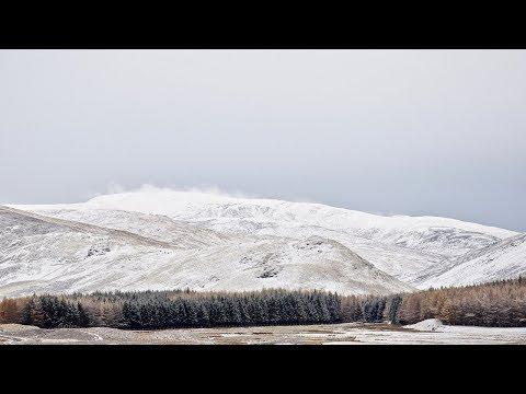 First snowfall around Braemar, the Cairngorms and Glenshee Ski Centre, Scotland, Nov 2017