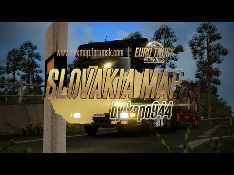 Slovakia Map for ETS 2   Trailer