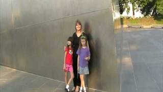 My wife and kids at the Saint Louis Arch