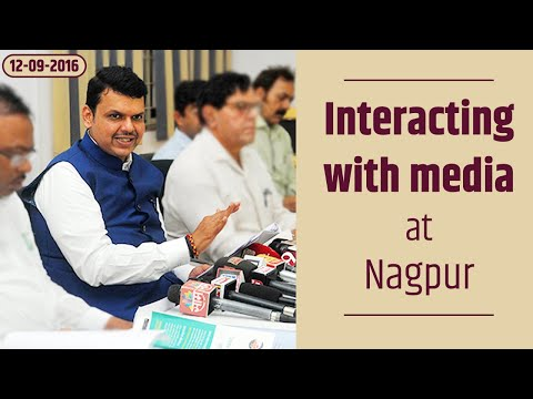 CM Devendra Fadnavis interacting with media at Nagpur
