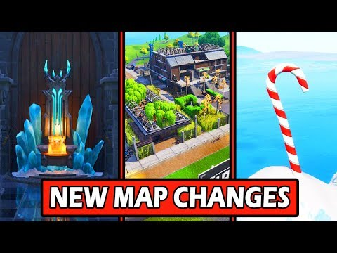 ALL *NEW* FORTNITE MAP CHANGES! ICE THRONE + GRIMY GREENS! (STORYLINE STARTING)