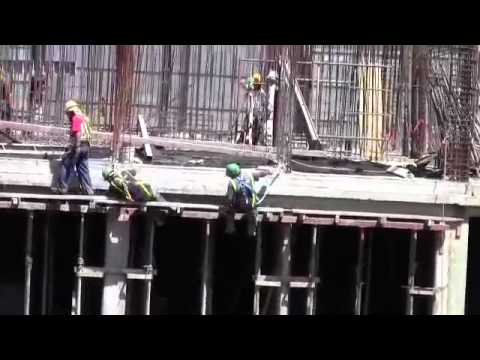 Rich Observers Poor Safety Practices at Construction Site in San Jose, Costa Rica