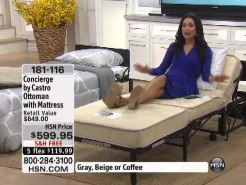 concierge collectioncastro convertible ottoman with  - youtube