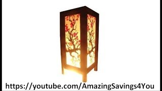 Bedside Light Table Or Floor Wood Paper Lamp Product Review