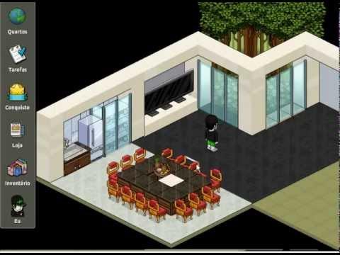 Constru o relampago casa mebbo youtube for Casa moderna habbo