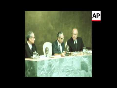 SYND22/09/71 INDONESIAN FOREIGN MINISTER ADAM MALIK ADDRESSES UNITED NATIONS