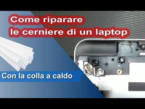Come riparare le cerniere di un computer portatile con la colla a caldo. Test su Lenovo v130-15ikb