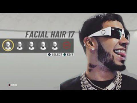 NBA 2k19: Anuel AA Face Creation