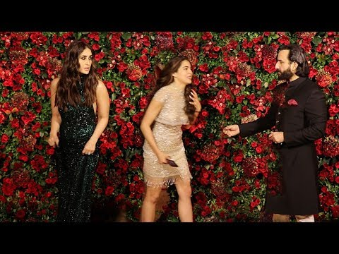 Kareena Kapoor IGNORES Sara Ali Khan In Front of Saif Ali Khan @Ranveer-Deepika WEDDING Party