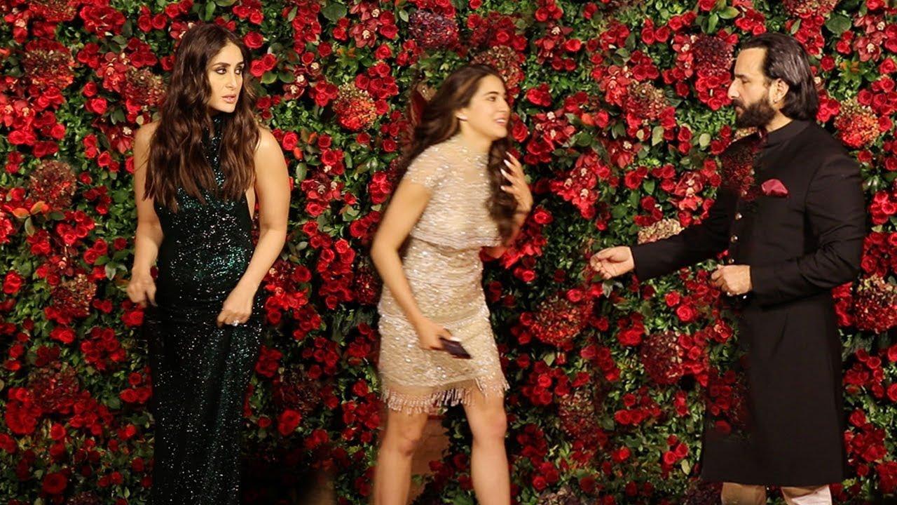 Kareena Kapoor IGNORES Sara Ali Khan In Front of Saif Ali Khan @Ranveer-Deepika WEDDING Party