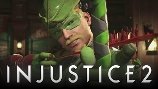 Injustice 2: New Green Arrow Gameplay Vs Harley Quinn w/ Fully Customized & Epic Gear (Injustice 2)