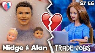 "S7 E6 ""Midge & Alan Trade Jobs""   The Barbie Happy Family Show"