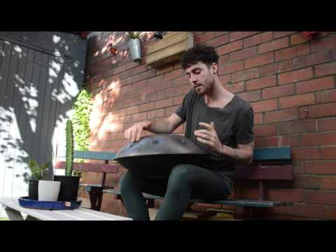 Handpan playing - Handpan playing instrument by Sam Maher