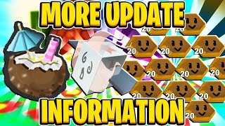 MORE UPDATE NEWS! Tropical Drinks + New Max Bee Level In Roblox Bee Swarm Simulator