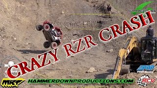 RZR 900 Wild Crash Off Hill