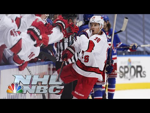 NHL Stanley Cup Qualifying Round: Hurricanes vs. Rangers | Game 3 EXTENDED HIGHLIGHTS | NBC Sports