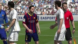 FIFA 14 (PS4) - Real Madrid v FC Barcelona Gameplay [1080p HD]