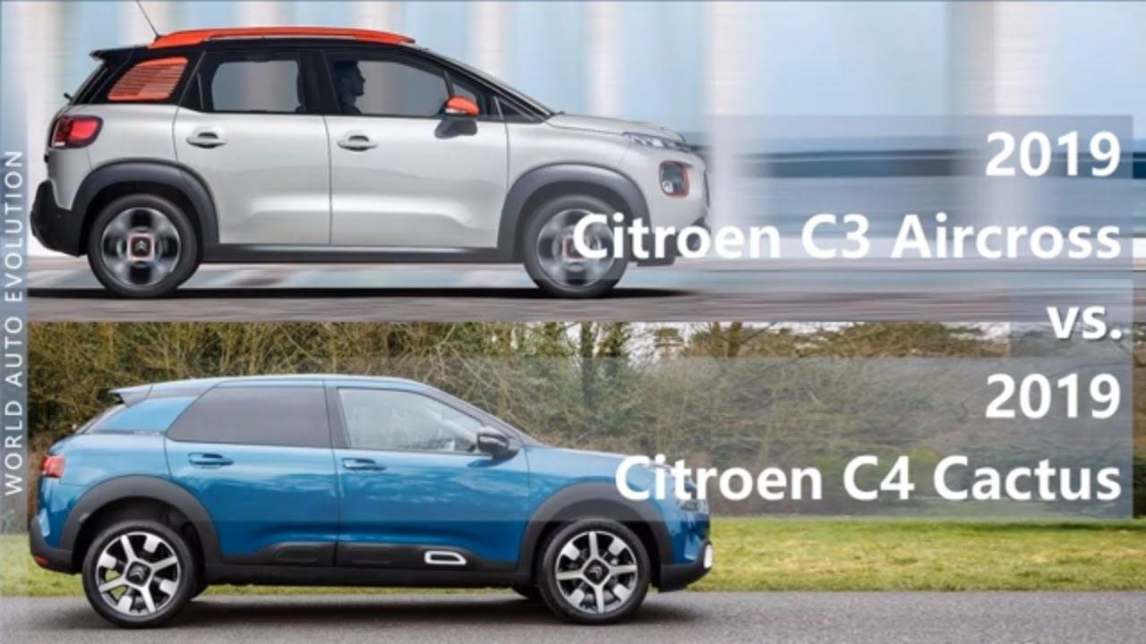 2019 Citroen C3 Aircross vs 2019 Citroen C4 Cactus ...