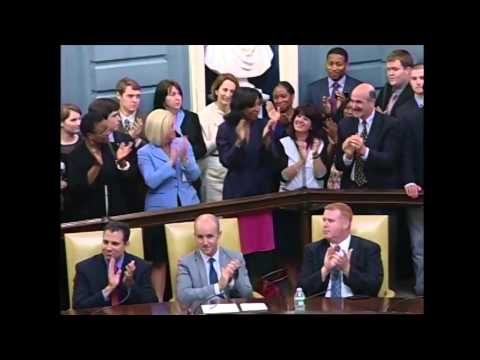 """""""ANOTHER DORCHESTER GIRL,"""" FORRY JOINS SENATE"""