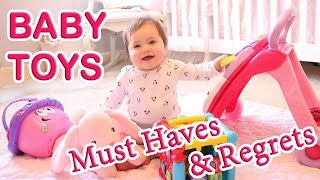 Baby Toys Must Haves and Regrets | 0-6 Months | Vtech, Fisher Price, & Baby Einstein