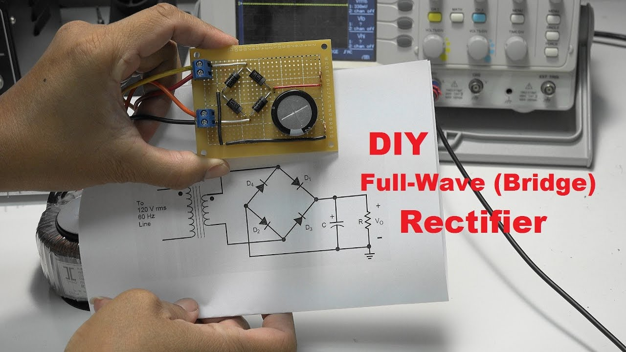 Diy Full Wave Bridge Rectifier Project Youtube