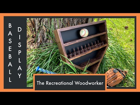 Baseball Tournament Ring Case - How to build your own Baseball home plate style display case