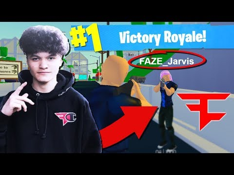 Faze Jarvis Got Banned... So He Played Strucid (Roblox Fortnite)