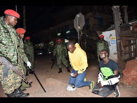 Happening Now: Police intensifies Night curfew in Kampala Ci