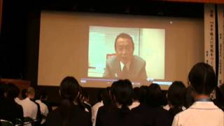 平成25年5月18日、福岡県立田川高等学校の80周年記念講堂で、平...