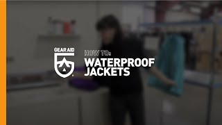 How to waterproof a jacket #geartip